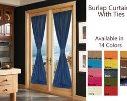 Burlap Drapery Burlap Sheers French Door Drapes Burlap Curtains French