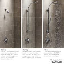 kohler hydrorail beam shower column in vibrant brushed bronze k