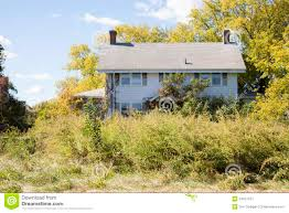 abandoned colonial style house stock image image 34037531