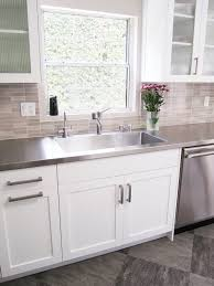 Kitchen Stainless Sinks by Kitchen With Huge Stainless Steel Sink Fully Integrated Into The
