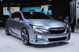 blue subaru 2017 subaru previews 2017 impreza with 5 door concept in tokyo