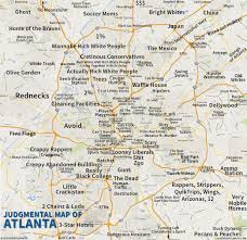 Judgemental Los Angeles Map by 6 Funny Maps Of Georgia Inside Map Atlanta Ga Jpg