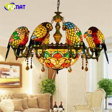 Stained Glass Pendant Light Fumat Stained Glass Pendant L Luxury Glass Birds