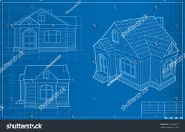 blueprint house blueprint house vector illustration stock vector 310500953