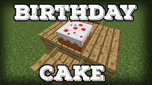 how to make a birthday cake in minecraft tutorials videos