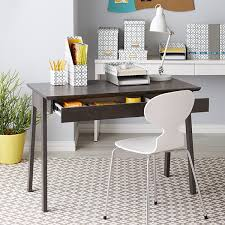 Writing Desk With Chair Smoke Caché Desk The Container Store