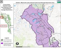 Bear Creek Trail Map Inyo National Forest Rush Creek Trail