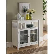 white wood contemporary kitchen storage display buffet cabinet