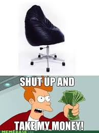 Meme Chair - rolling bean bag chair of awesome memebase funny memes