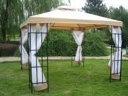 Gazebo With Awning Backyard Tents Gazebos Home Outdoor Decoration
