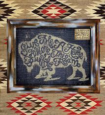 buffalo roam americana art print wall decor home design graphic