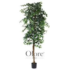 artificial ficus tree green 7ft indoor artificial tree by olore