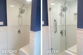 installing glass shower doors shower door glass enclosure installation in pittsburgh
