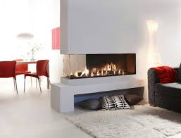double sided gas fireplace warmer unique room divider and