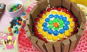 decorate a kit kat rainbow birthday cake easy how to tutorial