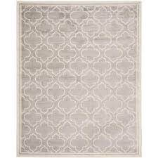 Safavieh Outdoor Rugs Safavieh Amherst Light Gray Ivory 6 Ft X 9 Ft Indoor Outdoor