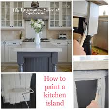 painted kitchen islands how to paint a kitchen island jpg