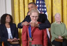 president obama professes his love meryl streep while giving