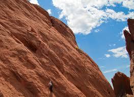 Rock Climbing Garden Of The Gods Rock Climbing In Garden Of The Gods Park Stock Photo Image Of