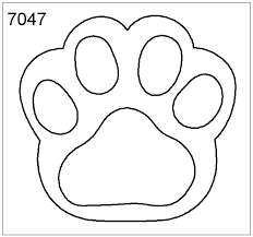Paw Print Template by Printable Paw Prints Clip 76