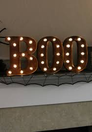 Lighted Halloween Costumes by Lighted Boo Sign
