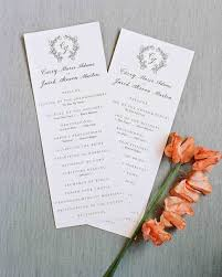 45 perfect wedding ceremony programs martha stewart weddings