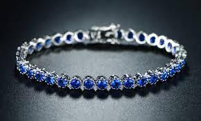 tennis blue bracelet images Blue sapphire tennis bracelet groupon goods jpg