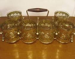 vintage 1950s drinking glasses etsy