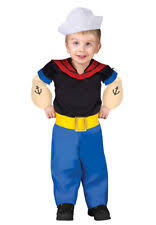 Infant Bunting Halloween Costumes Popeye Sailor Man Bunting Infant Costume Ebay