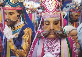 fasnacht and tirolean mask carvers in tirol austria