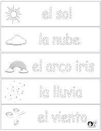 spanish weather worksheet free worksheets library download and