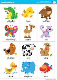 simple songs animals mini cards simple