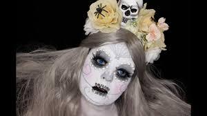 Sugar Skull Halloween Makeup Tutorial by Sugar Skull White Makeup Tutorial Halloween Makeup Tutorial
