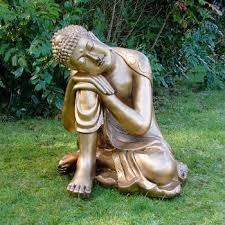 enigma sleeping deity gold buddha garden statue woodside garden