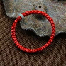 red string bracelet with charm images Mdiger brand new chinese style men women unisex bracelet braided jpg