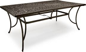 Rectangular Patio Table Cover Strathwood St Cast Aluminum Rectangular Patio Table