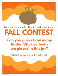fall 2017 contest guess how many witches teeth brier creek