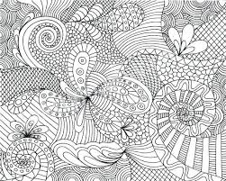 Zen Patterns Coloring Pages | zentangle patterns coloring pages hand drawn monochrome hearts in