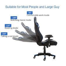 wensix ergonomic high back computer gaming chair lummyshop