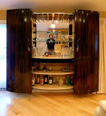 Cool Home Bar Designs Decorating Funiture Wall Mounted Wooden Home Bar Cabinet Designs