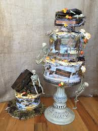 Halloween Wedding Cake by Diy Haunted Cake Halloween Centerpiece The Creative Studio