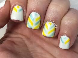 nails art split chevron nail art design