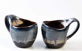 black u0026 blue studio curved milk mug set of two pieces from the