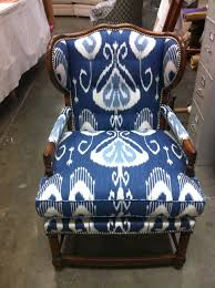 Ikat Armchair Innovative Reupholster Wingback Chair Design Ideas And Decor
