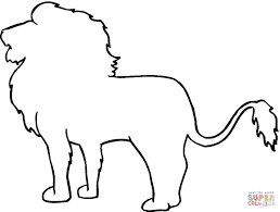 drawing outlines of animals animal outline drawings lion outline