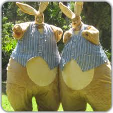 big easter bunny stilt walkers australia easter entertainment easter bunnies