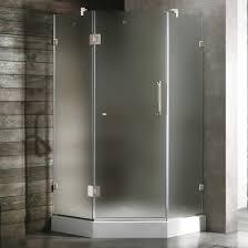 38 Neo Angle Shower Door Vigo 38 X 38 Frameless Neo Angle Frosted Chrome Shower Enclosure