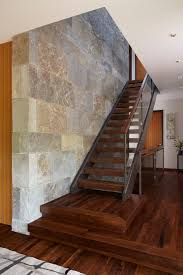 Wood Stair Banisters Glass Stair Railing Staircase Contemporary With Dark Brown