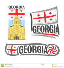 Georgia Flag State Vector Logo For Georgia Stock Vector Image Of Borjgali 71073408