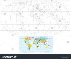 World Map With Countries And Capitals by Contour Transparent World Map Detailed Vector Stock Vector